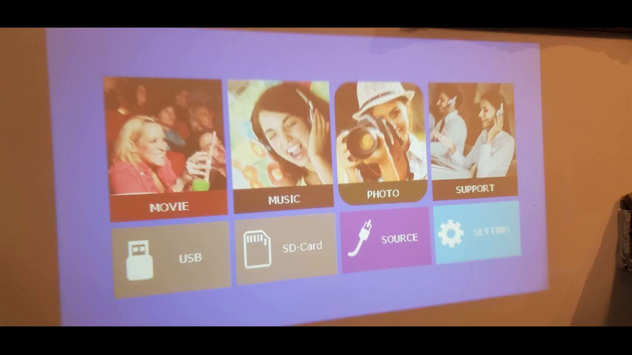 Review: Wi-Fi Projector, TOPVISION 5500L Mini Projector with Synchronize Smart Phone Screen, Fu...