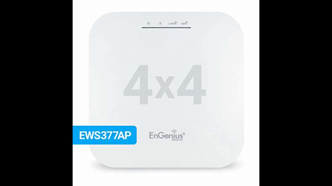 Review: EnGenius EWS377AP WiFi 6 802.11ax 4x4 Managed Indoor Wireless Access Point Features OFD...