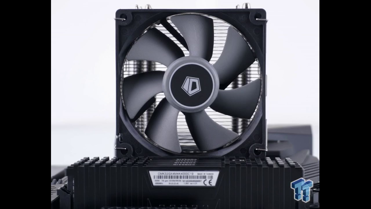 Review: ID-COOLING SE-914-XT-Basic CPU Cooler 126mm Height AM4 CPU Cooler 4 Heatpipes CPU Air C...