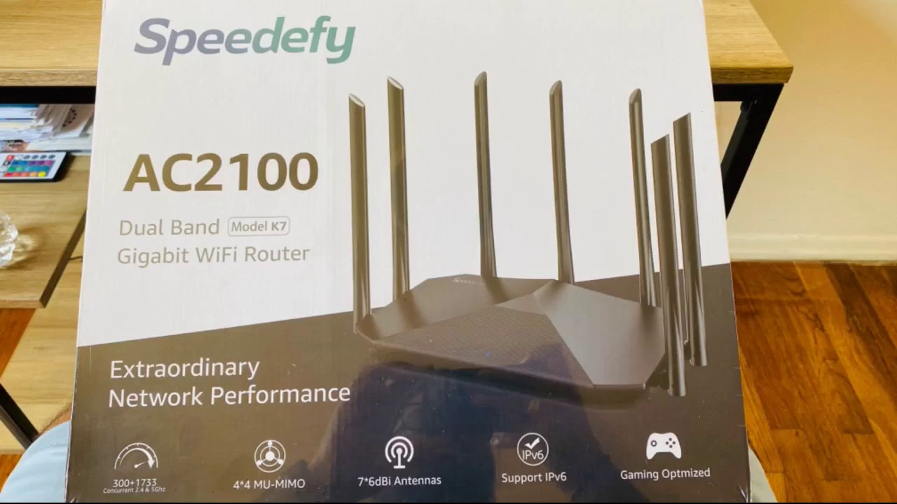 Review: Speedefy AC2100 Smart WiFi Router - Dual Band Gigabit Wireless Router for Home & Gaming...