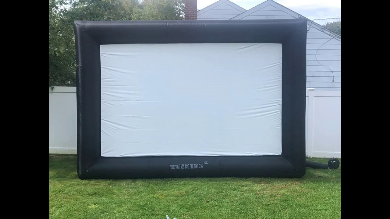 Review: 20 Feet Inflatable Outdoor and Indoor Theater Projector Screen - Includes Inflation Fan...