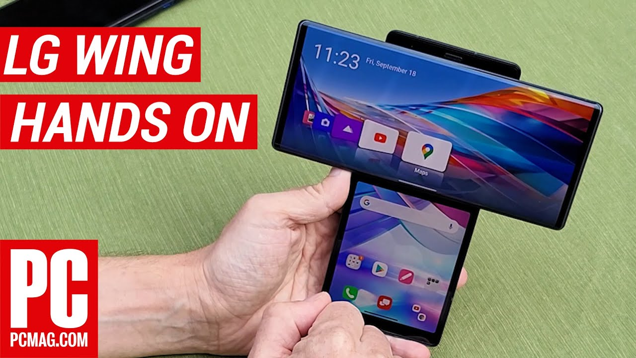 Hands On With the LG Wing: The Most Useful Dual-Screen Phone?   PCMag