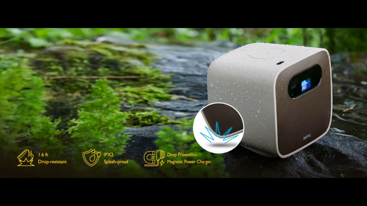 Review: BenQ GS2 Wireless Mini Portable Projector for Outdoor Use  IPX2 Splash & Drop Resistan...