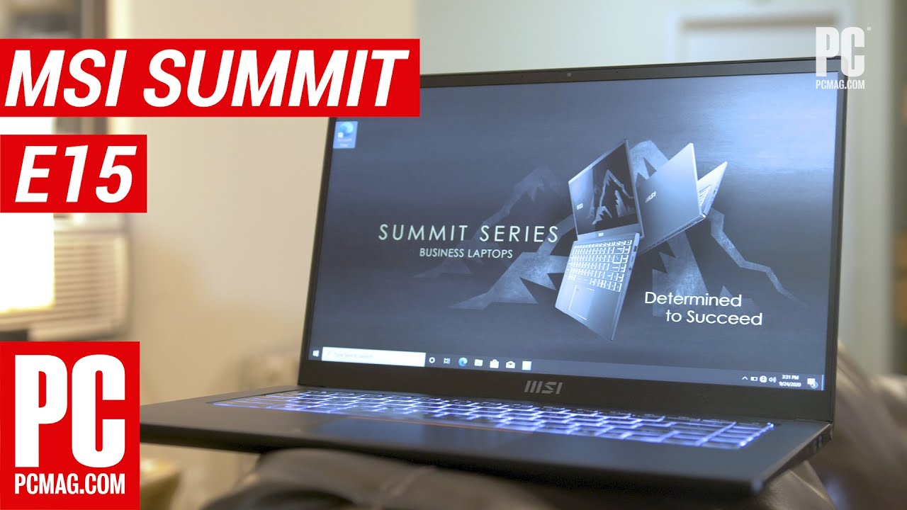 Meet MSI's First Business Laptop: Hands On With the Summit E15