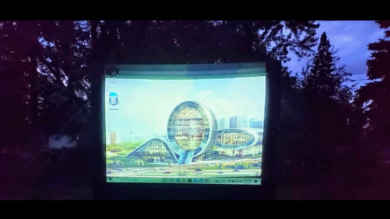 Review: OZIS 25Ft Inflatable Movie Screen Outdoor - Blow up Mega Movie Projector Screen with 45...